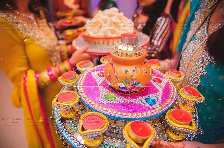 Mehndi Thaals and Plates Decoration