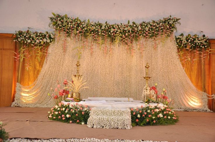 Latest stage decoration for wedding stage decoration for Marriage decoration photos