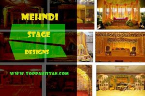 Latest Pakistani Mehndi Stage Designs 2019