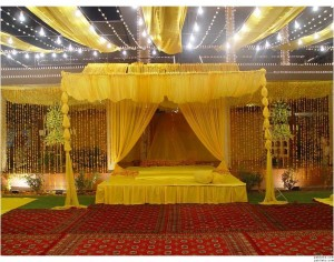 Different Mehndi Stage Designs