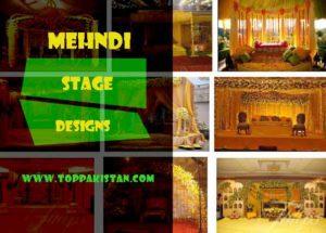 Latest Pakistani Mehndi Stage Designs