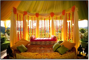 Mehndi Stage Designs