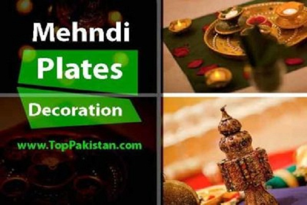 Mehndi Thaals And Plates Decoration Ideas
