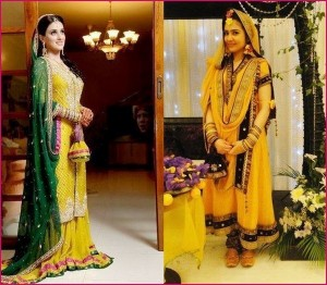 designer-wedding-dresses-for-Mehndi-yellow-orange