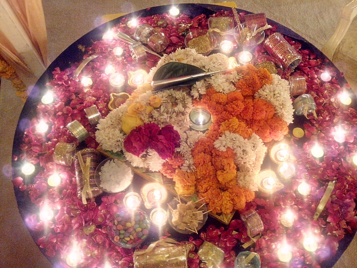 Mehndi Fruit Decoration : Mehndi thaals and plates decoration