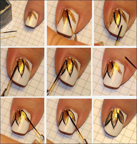 Nail Art Designs Step By Step Using Flowers Flower Nail Art