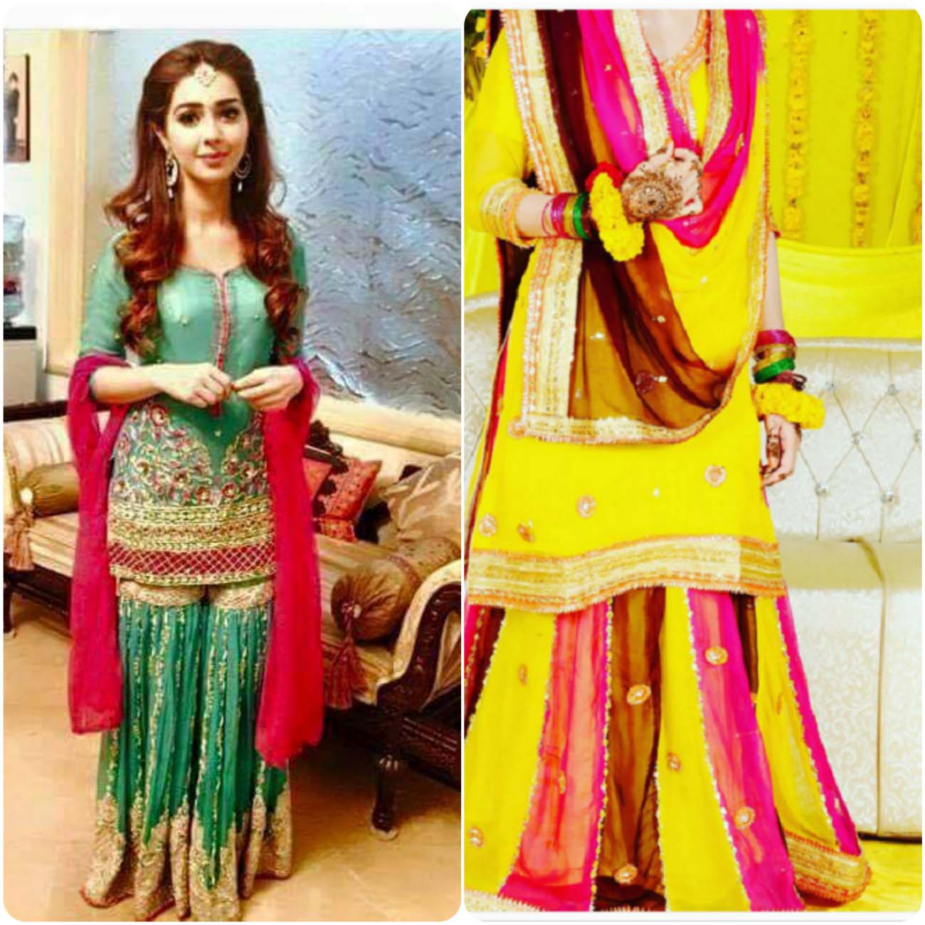 Beautiful Bridal Mehndi Dress Designs 2017