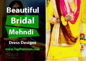 Elegant and Beautiful Bridal Mehndi Dress Designs