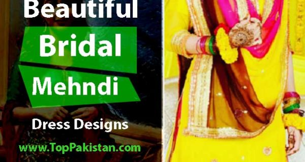 Elegant and Beautiful Bridal Mehndi Dress Designs