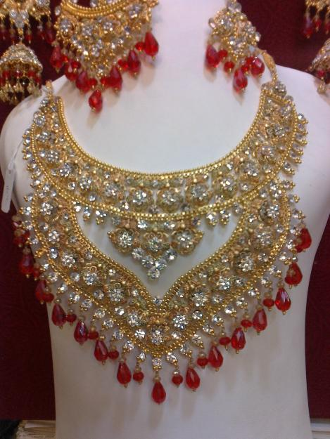 Latest Best Bridal Gold Jewellery Designs 2014 in Pakistan