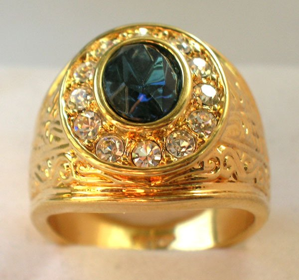 Sapphire-White-Topaz-18K-Yellow-Gold-GP-Men-s-Ring-Size-8-11-Free-shipping-Provide