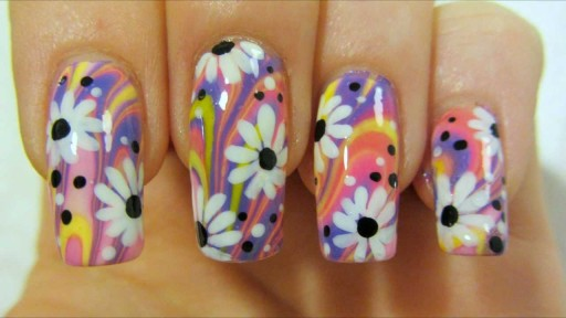 how-to-paint-colorful-hippie-flower-power-design-with-water-marbling-and-daisies-nail-art-diy-tutorial-step-by-step-instructions-512x288