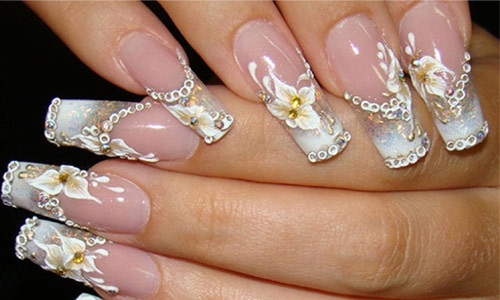 nail art designs for wedding 13