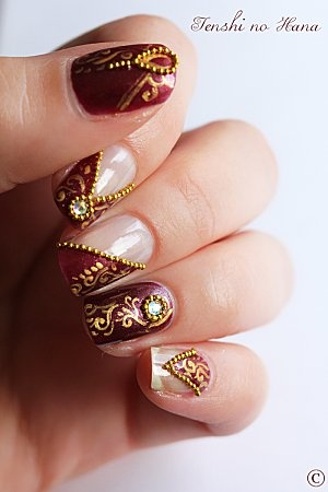 nail art designs for wedding 6