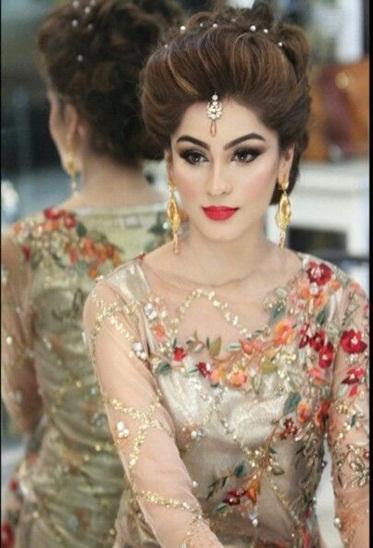 pakistani mehndi hairstyles 4