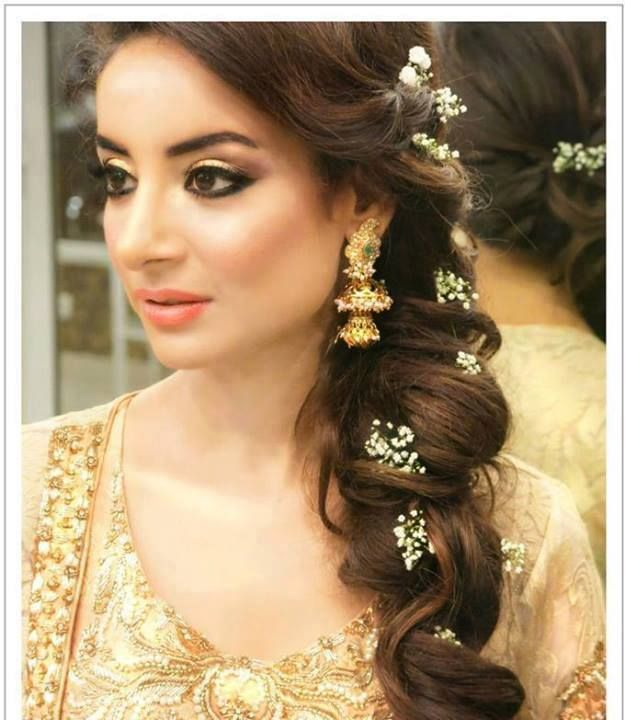 Mehndi Party Hairstyles : New mehndi hairstyle for long hair
