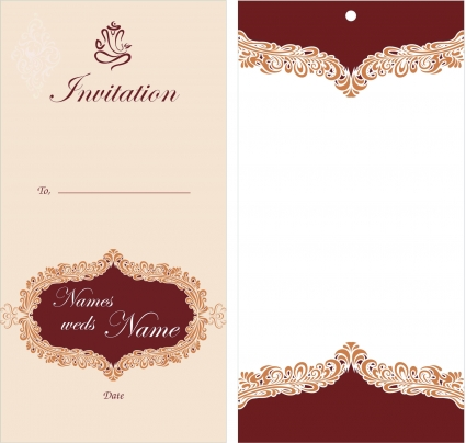 Pakistani Wedding Invitation Card 3