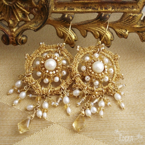 serenissima-earrings-round-gold-bridal-chandeliers-pearls-citrine