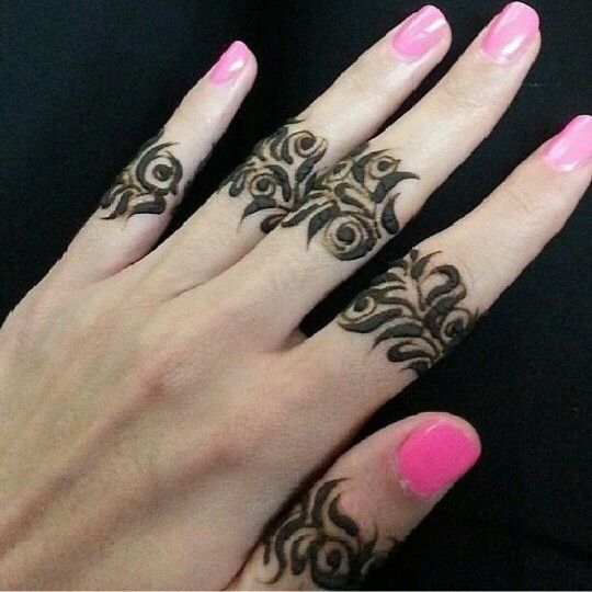 Arabic Mehndi Designs for Fingers