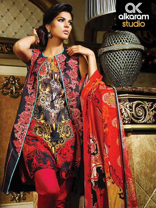 Al-Karam-Women-Spring-Wear-Printed-Lawn-Dresses-2015-4