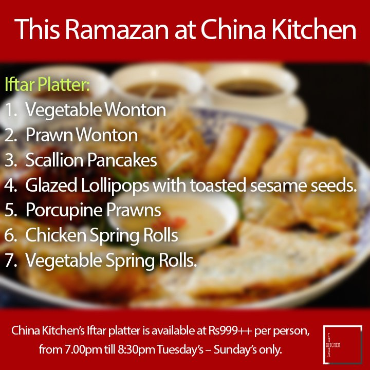 China Kitchen Karachi Ramadan Iftar Platter Deal