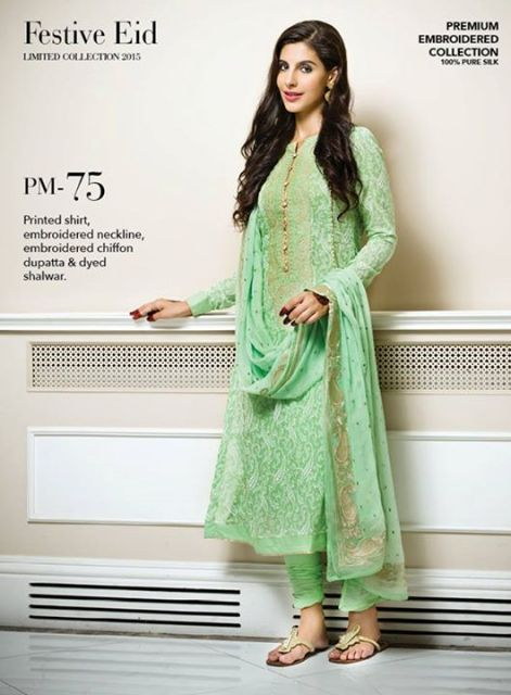 Exclusive-Premium-Embroidered-Eid-Chiffon-Festive-Collection-2015-For-Girls-2