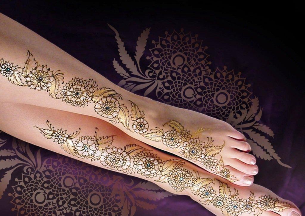 Mehndi Designs For Legs latest
