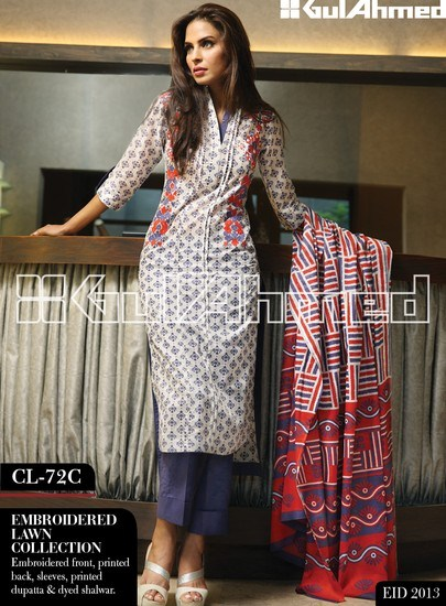 Gul-Ahmed-Eid-Lawn-Dresses-2013-Embroidered-Fashion-Wear-Collection-2