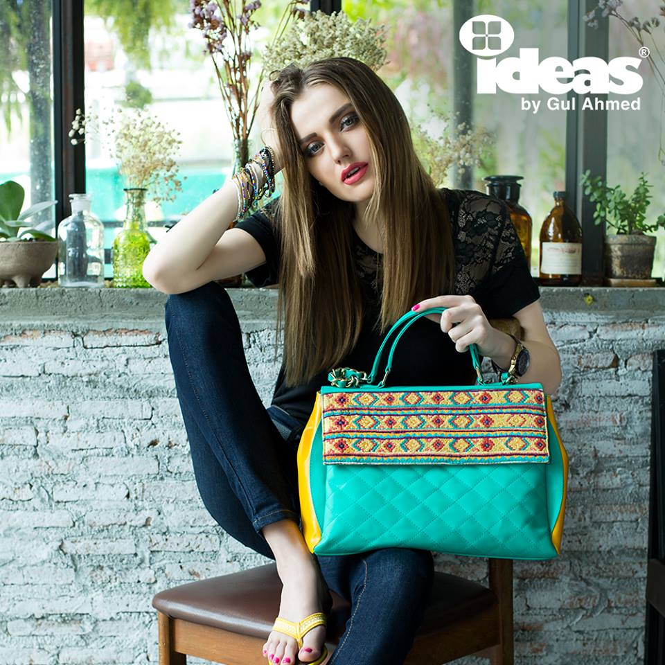 Gul Ahmed Latest Shoes And Beautiful Bags Collection 2016 for Girls
