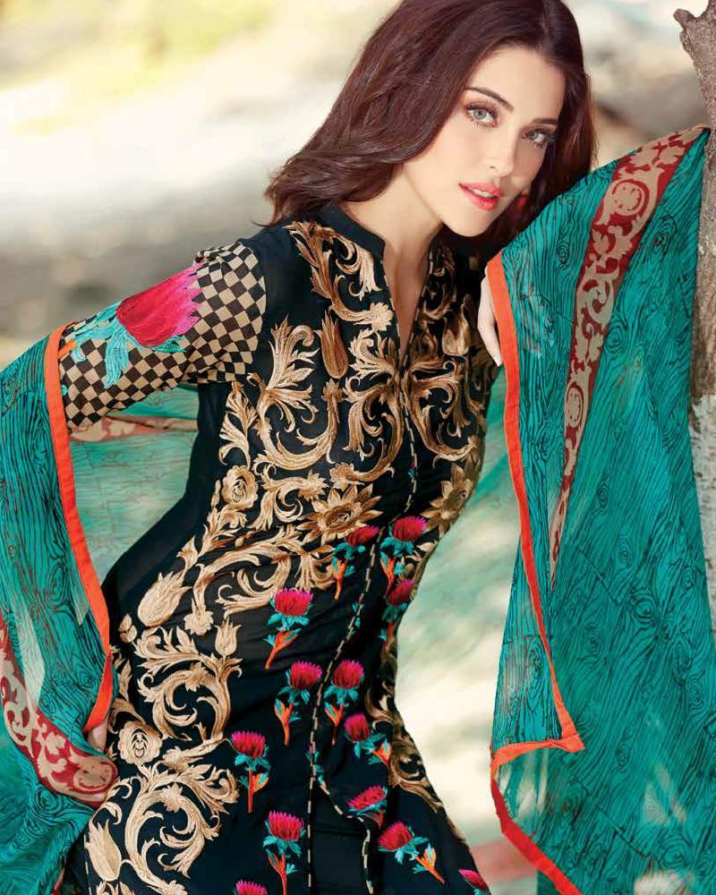09dac099c763 Beautiful and Elegant Eid Dresses Designs 2016 For Girls - Top Pakistan