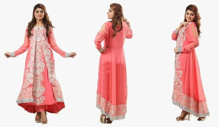 Latest-Open-Double-Shirt-Gown-Design-For-Ladies-3
