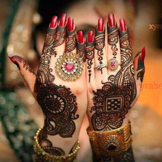 Simple & Best Eid Mehndi Designs 2017-2018 Collection for