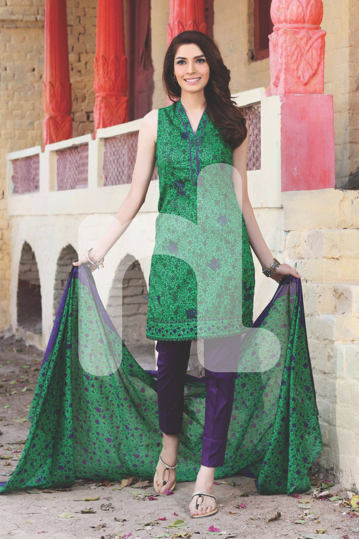 Nishat-Linen-Summer-Collection-2016-Green-Purple-Dress