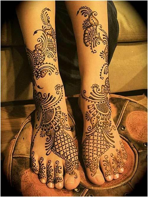 Mehndi Leg Designs New Style : Arabic mehndi designs for legs simple