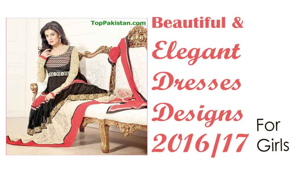 Beautiful and Elegant Eid Dresses Designs 2016 For Girls