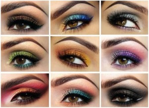 Beautiful and Elegant Eye Make with Different Color Combinations