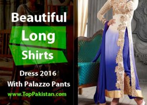 Beautiful Long Shirts Dress 2016 With Palazzo Pants