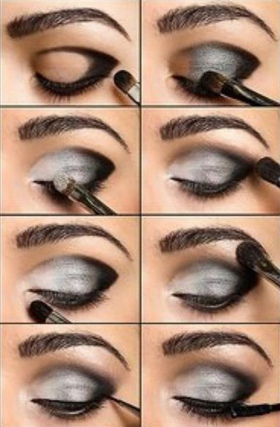 Black-and-silver-eye-makeup