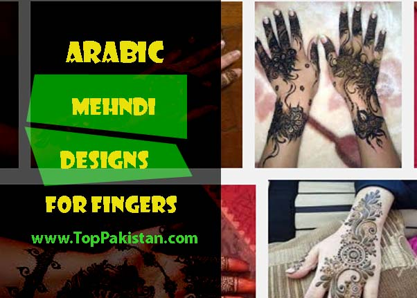 Elegant Arabic Mehndi Designs on Fingers