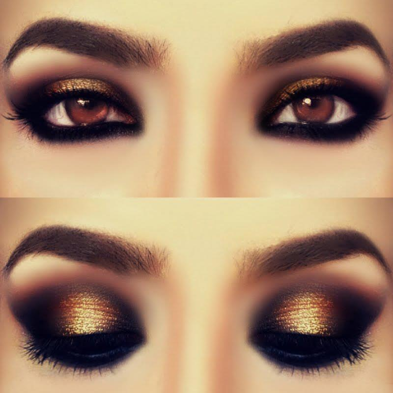 Smokey-Gold-Eye-Shadow