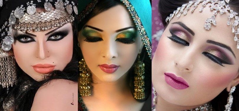 Step-by-Step-Arabic-Party-Wear-Bridal-Eye-Complete-Face-Makeup-Tutorial-with-Pictures-810x377
