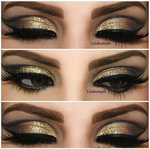 gold-dark-eye-makeup-looks