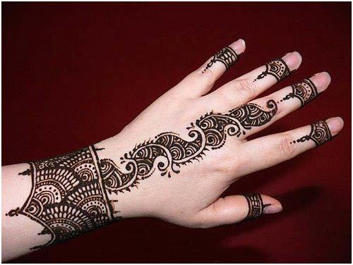 bridal-mehndi-designs-for-left-hand wedding