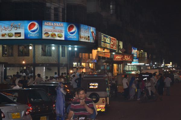 Bans Road In Karachi Pakistan