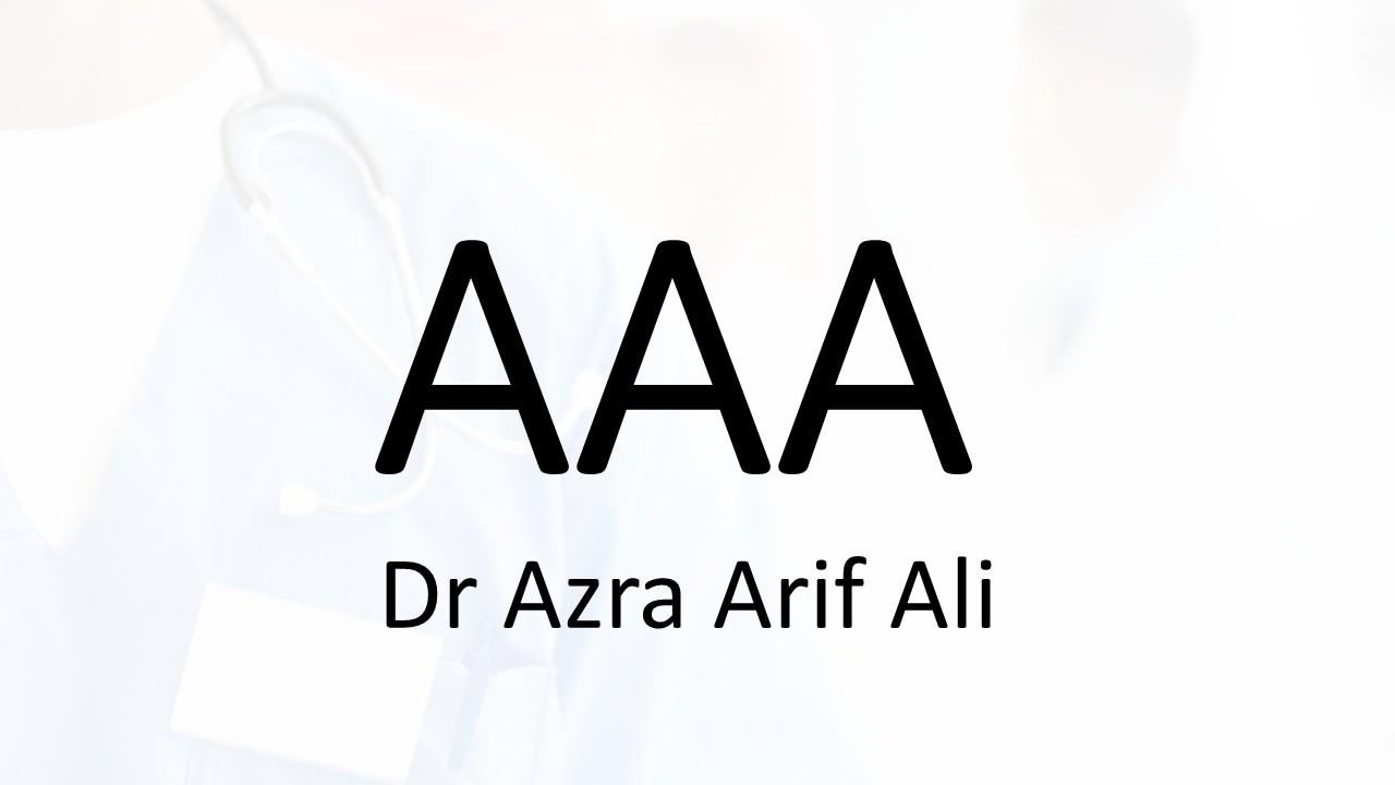 Dr. Azra Arif Ali