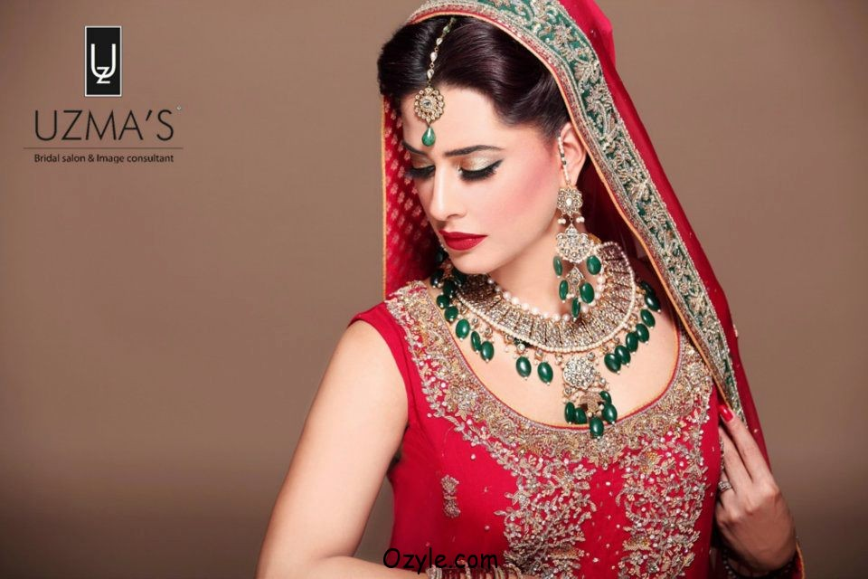 Pakistani Bridal MakeUp Ideas On Red Dresses - Top Pakistan