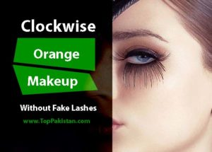 Amazing Clockwise Orange Makeup Without Fake Lashes