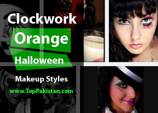 Impressive Clockwork Orange Halloween Makeup