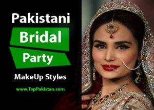Perfect Pakistani Bridal MakeUp Ideas On Red Dresses