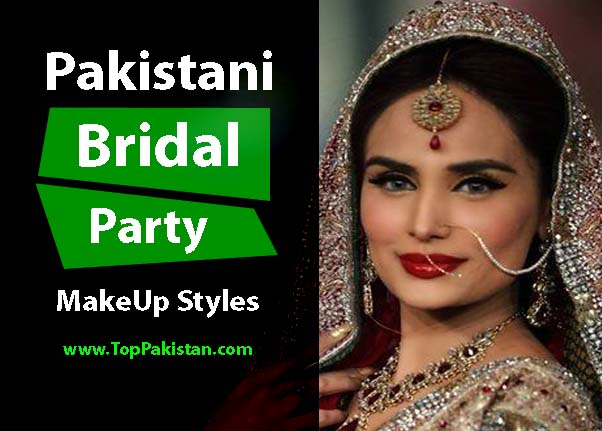 Perfect Pakistani Bridal MakeUp Ideas On Red Dresses